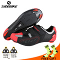 Sidebike/Мужская и женская обувь для шоссейного велосипеда; Ультралегкая обувь для велоспорта с самоблокирующимся верхом; спортивная обувь для...