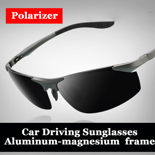 men fashion high quality aluminum and magnesium alloy frame polarized sunglasses Fishing glasses  4 colors 8179