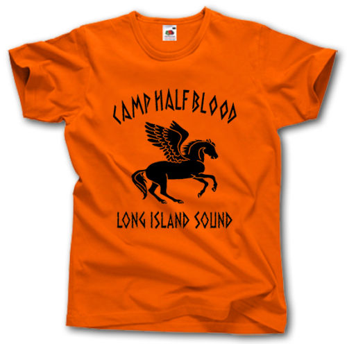 Camp Half Blood Long Island Sound t-shirt Greek Mythology Pegasus Percy Jackson Cool Casual pride t shirt men Unisex Fashion image