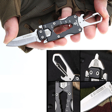 2019 New Outdoor Multi Functional Transformer Knife EDC Tactical Camping Survival With Packet Knife Self Defense Dropshippping