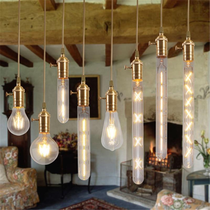 CLAITE Edison LED Bulb E27 Dimmable Incandescent Light Bulb Classic Filament COB LED Retro Light for Christmas Lighting AC220V