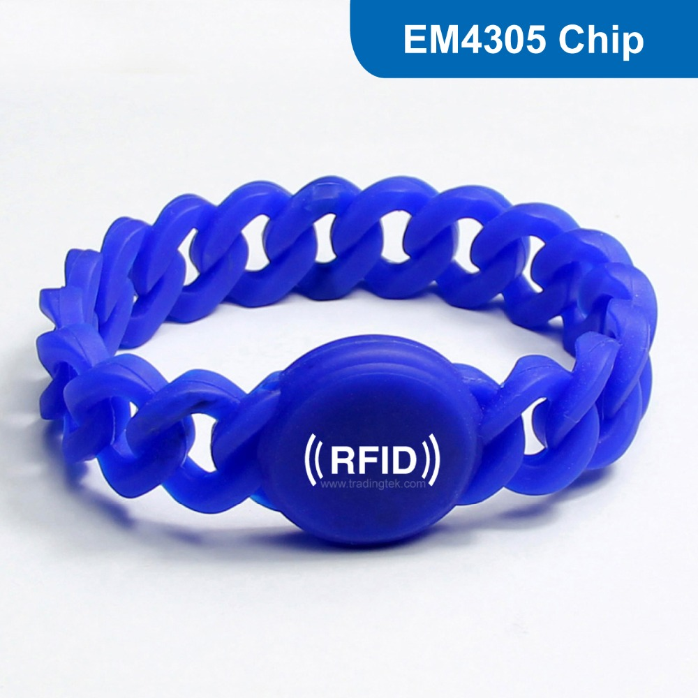 WB08 Silicone RFID Wristband RFID Bracelet RFID Tag, RFID Tag for access control with EM4305 Chip Free Shipping wb01 hot sales silicone rfid wristband for access control nfc bracelet iso14443a 13 56mhz with m1 s50 chip free shipping