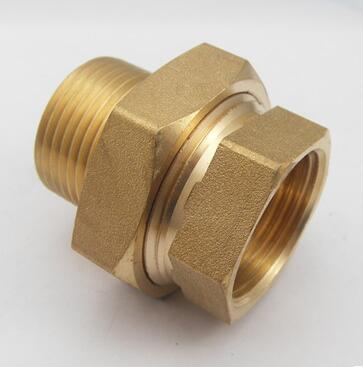 цена на Male to Female Inch BSP Malleable Slip Joint Connection Brass Plumbing Pipe Adapter Union Coupling 232psi+BFH