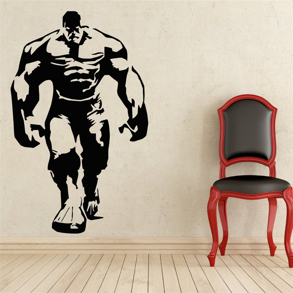 popular comic wall decals buy cheap comic wall decals lots from comics art hulk wall decal superhero sticker home decoration any room waterproof removable wall stickers