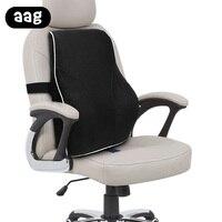 AAG Car lumbar support Cushion Memory Foam Car chair backrest waist Support Massage pillow Office Home chair pillowcushion black