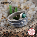 100% Real 925 Sterling Silver Jewelry Open Ring with Malachite for Women Men Lovers High Quality Free Shipping Bijoux SY20700