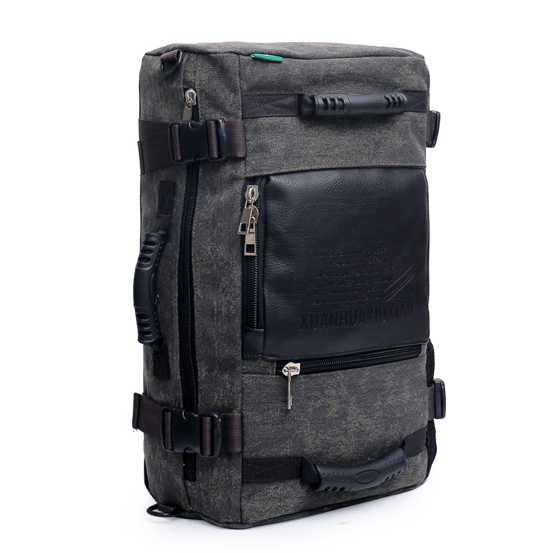 Men Multi-function Retro Shoulder Bag High-Capacity Computer Bag Military Shoulder Bag Retro Style For Male Canvas Handbag New
