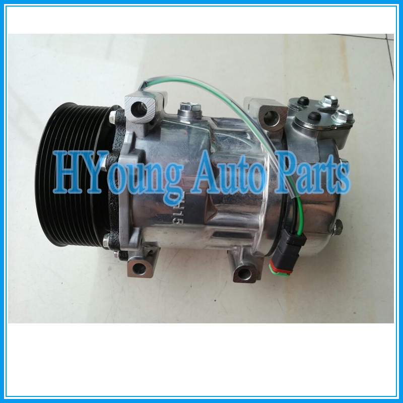 7H15 auto parts air condition compressor for Scania 2012 SD# 8275 8295 good performance auto a c compressor for vw 7h15