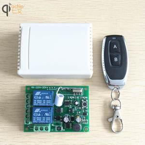 Image 1 - 433 Mhz מתג שלט רחוק אלחוטי אוניברסלי AC 85 V ~ 250 V 110 V 220 V ממסר 2CH מקלט מודול RF 433 Mhz שלט רחוק
