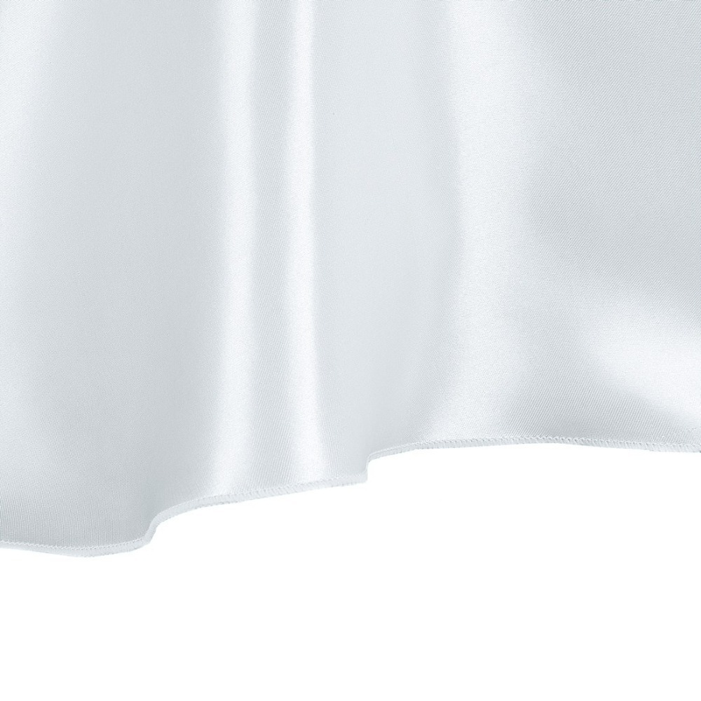 HK DHL Stain Feel 108 inch/280cm Polyester Round Tablecloth Silver for Wedding, 5/Pack