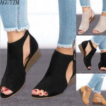 2018 woman wedge buckles fish mouth sandals gladiator women sandals mid heel sandals ladies summer peep toe women shoes v718 white peep toe buckles wedge sandals