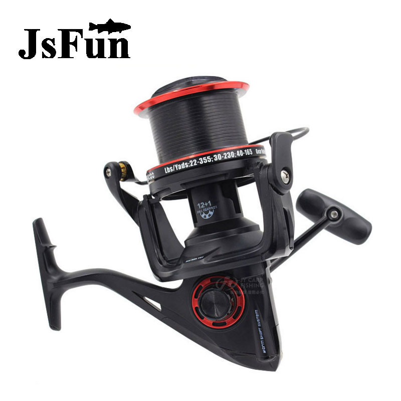 JSFUN Spinning Fishing Reel Distant Wheel  12+1 Ball Bearings 4.6:1 Metal Fishing Wheel YF8000-9000 Waterproof Fishing Tool fr10 our distant cousins