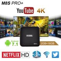 S905X MECOOL M8S PRO + Android 7.1 Amlogic Quad Core smart TV POLE 2G + 16G 4 K Pełne UHD 3D WIFI Media Player set Set Top Box