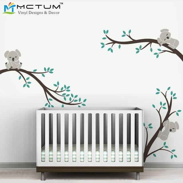 oversize removable koala tree branches diy wall decals free shipping oversized large koala tree wall decals for