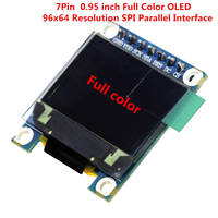 7PIN 0 95 Inch Full Color OLED Display Module With 96x64 Resolution SPI Parallel Interface SSD1331