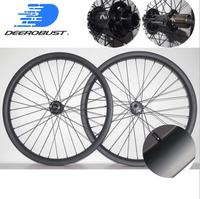26er 26 32mm x 40mm MTB DH/Down Hill Carbon Wheel set Clincher Tubeless Hookless Mountain Bike Wheels 32 32 Holes UD Matte