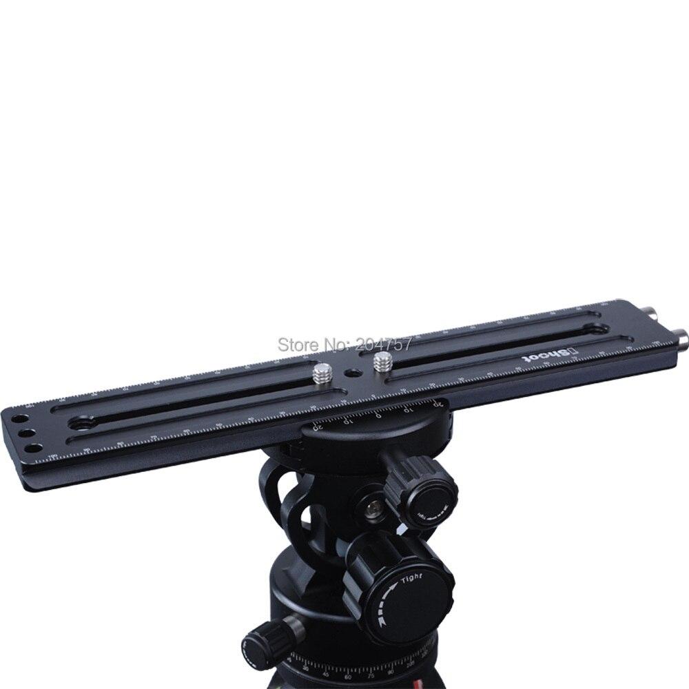 БЫСТРОРАЗЪЕМНАЯ пластина для камеры 22 см с 2 направляющими для штатива ARCA Fit с шаровой головкой и зажимом для длиннофокусного зума с кронштейном