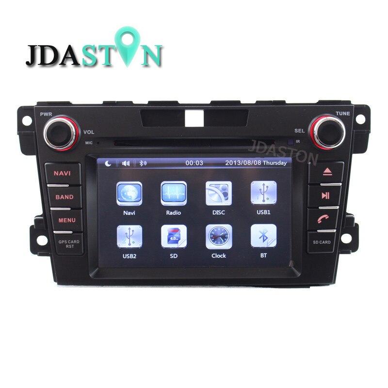 JDASTON 2 Din In-Dash CAR DVD Player Per Mazda CX7 CX 7 CX-7 2007-2013 Con Il GPS di navigazione Ipod RDS AM FM Gratuita Map Canbus SWC