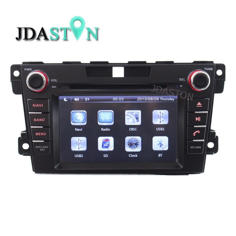 Lecteur DVD de voiture JDASTON 2 Din intégré au tableau de bord pour Mazda CX7 CX 7 CX-7 2007-2013 avec Navigation GPS Ipod RDS AM FM carte gratuite Canbus SWC