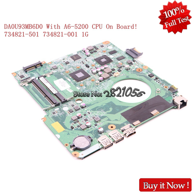 Nokotion Laptop Motherboard DA0U93MB6D0 734821-501 734821-001 For HP pavolion 15-N 15z-N 15Z-N100 15Z-N200 A6-5200 8670M 1G