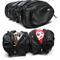 2 Bags Motorcycle Saddle Bag Backpack Knight Rider Equipment Oxford Contraction Adjust Helmet Bag Free Shipping