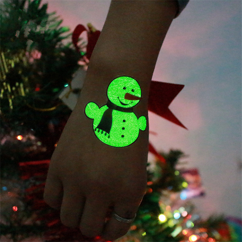 Party Decoration 1Pc Luminous Temporary Tattoo Stickers Christmas Carnival Party  1