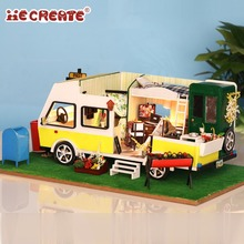 iiE CREATE Dollhouse K037 Leisure Holiday Miniature DIY Kit With Lights And Dust Cover