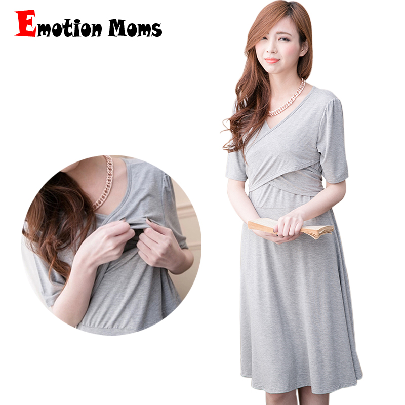 Emotion Moms Maternity Clothes Fashion Maternity Dresses pregnancy Breastfeeding clothing for Pregnant Women Nursing Dress mommas tangjiahe fashion nursing clothing nursing one piece dress 100
