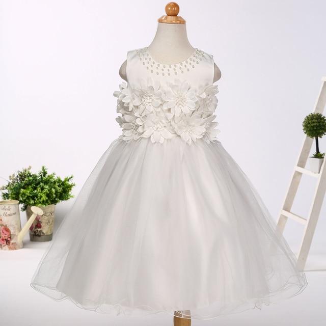 Großhandel Große Blume Dekoration Hochzeit Kleider Für Kinder ...