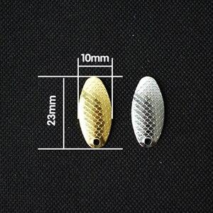 Image 2 - 5 pièces/lot pêche cuillère leurres Spinner anneaux lames lisse appât pêche Wobbler métal Isca artisanat artificiel bricolage poisson accessoires