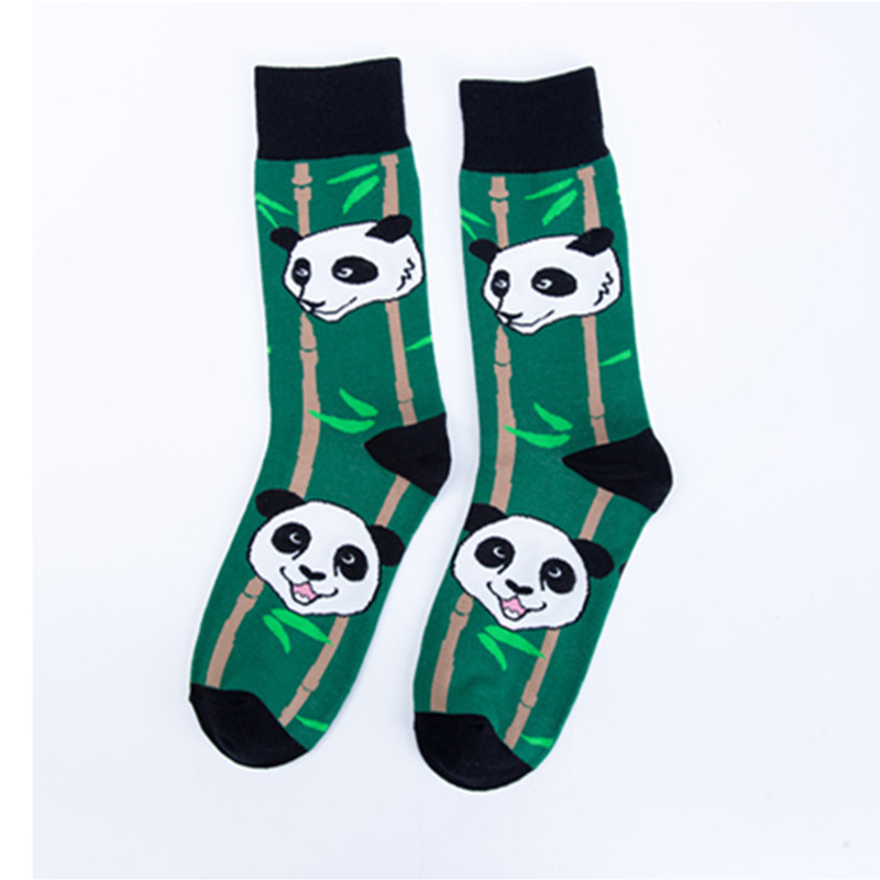 Just Crew Cool Cat Panda Bamboo Animal Premium Men Women Crazy Socks Happy Short Male Cotton Pop Crazy Female Winter Warm Socks Men's Socks