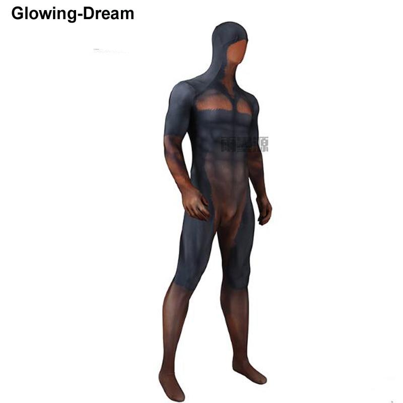 Glowing-Dream High Quality Doberman Printed Spandex Lycra PETSUIT Costume Animal Cosplay Costume
