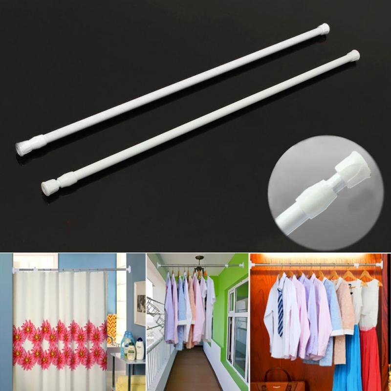 Adjustable Spring Telescopic Shower Bathroom Window Curtain Rail Loaded Pole Rod