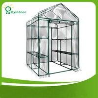 Hyindoor Садовые принадлежности сельское хозяйство парниковых ПВХ экран Sunroom для садоводства овощей и цветов Солнечный Jardin invernadero