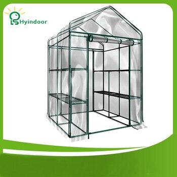 Hyindoor, suministros de jardín, invernadero agrícola, protector Solar de PVC para jardín...