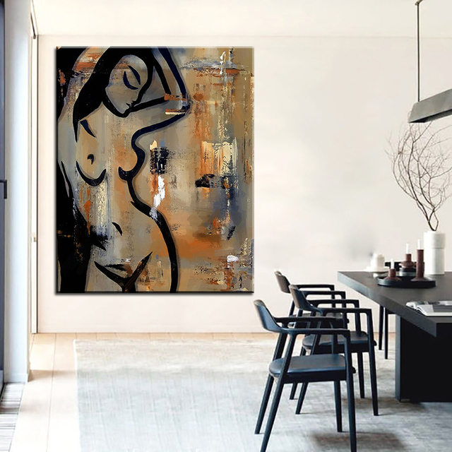 Large size Printing Oil Painting sensual movement Wall painting POP Art Wall Art Picture For Living & Large size Printing Oil Painting sensual movement Wall painting POP ...