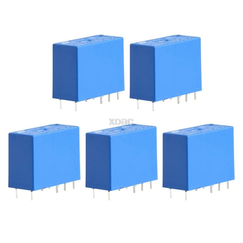 5Pcs/Set SMIH-12VDC-SL-C Relays 12V 16A 250V 8 Pin One Conversion   M09 dropship
