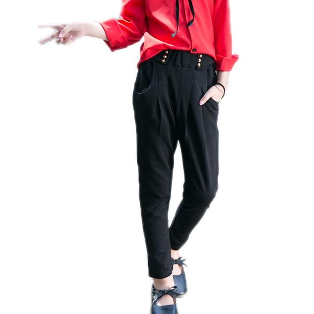 461e806cf9f60 baby girl pants autumn children leggings straight harem pants six button  roman trouser for girls long