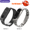 Metal Strap For Xiaomi Mi Band 2 Bracelet Belt For Xiaomi Miband 2 Strap Replacement OLED Display Wristbands Black Silver Golden