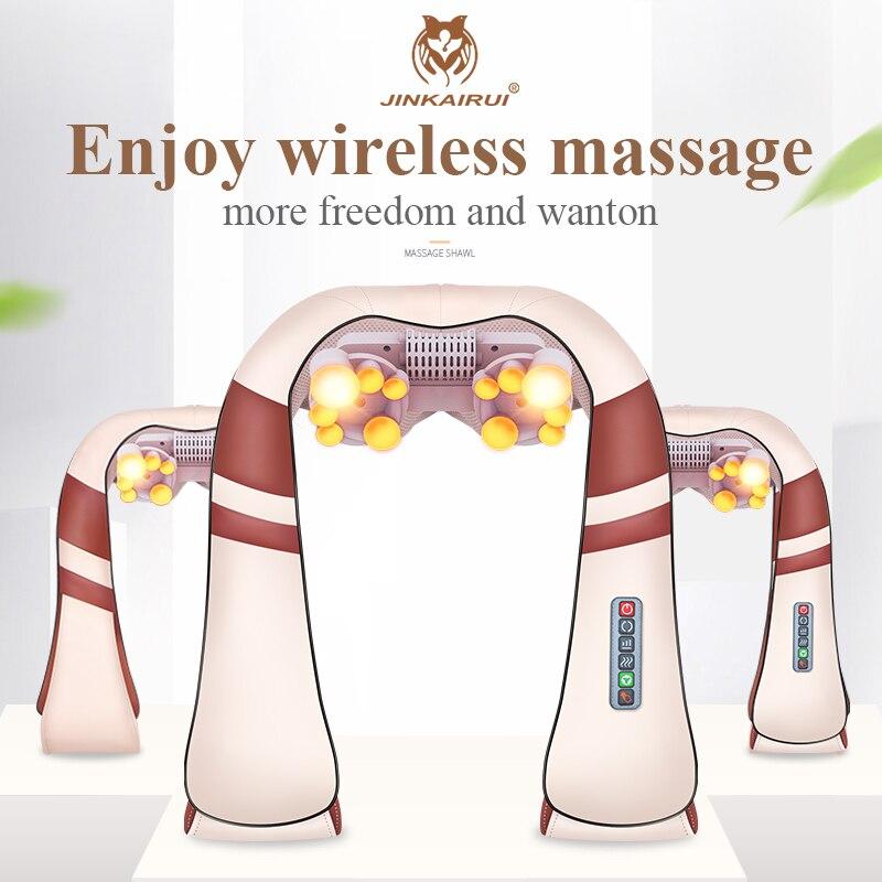 JinKaiRui U Forme Électrique Shiatsu Dos appareil de massage pour cou et épaules soin spa du corps Infrarouge 4D pétrissage Massagem Voiture/Usage Domestique - 2