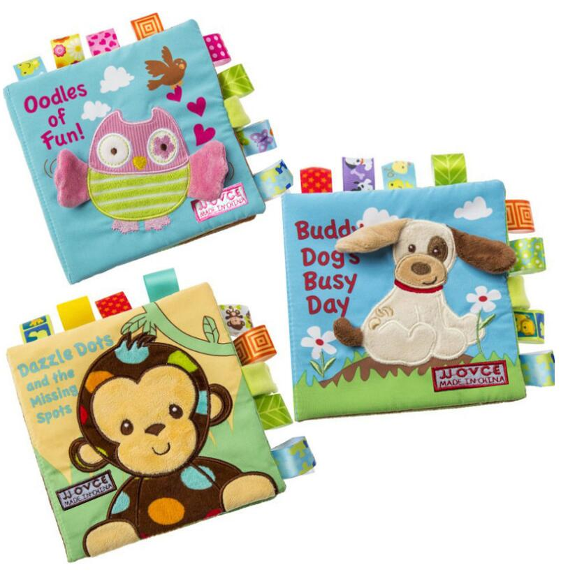 15pcs lot Cute cartoon aniaml infant toddlers toys early development soft cloth books for baby children