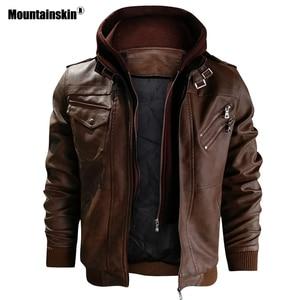 Mountainskin 2019 New Men's Leather Jackets Autumn Casual Motorcycle PU Jacket Biker Leather Coats Brand Clothing EU Size SA722