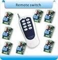 Envío libre AC220V C-8H Home appliance interruptor de control remoto inalámbrico/power light System 8 Receptor + 1 más alejado