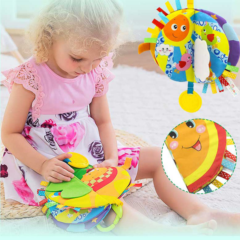 Early Learing Story Soft Cartoon Cloth Book For Newborn Baby Intelligence Development Toys Rich Colours Stroller Best Gifts