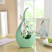 Creative fluorescent green ceramic vase decoration Fashion Ceramic Bottle Green Plant Flower Vases home living room decoration недорого