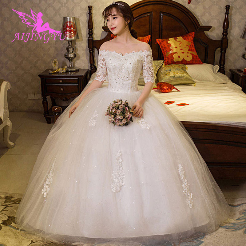 AIJINGYU dresses wedding 2018 bride formal dress lebanon WU273