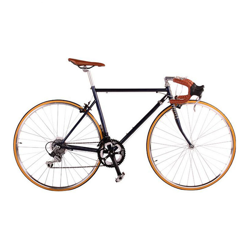 Road Bicycle Fixed Gear Bike 49cm Completed 14 Speed Road Bicycle Retro Bike Frame Plating Framee