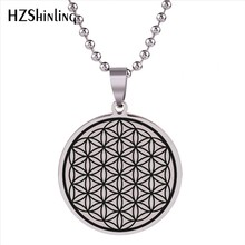 2018 New Flower Of Life Stainless Steel Pendant Seed Of Life Jewelry Mandala Necklace Geometric Pattern Pendants Men Women HZ7(China)