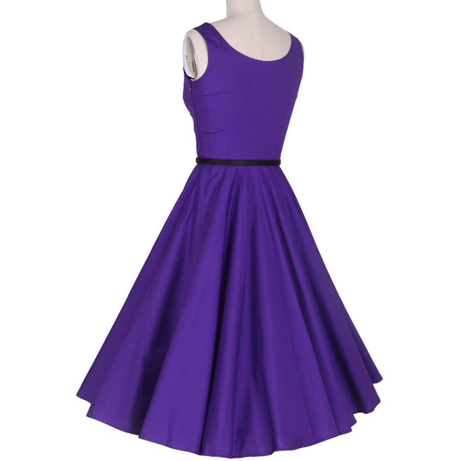 Vintage Pin Up Dress Purple