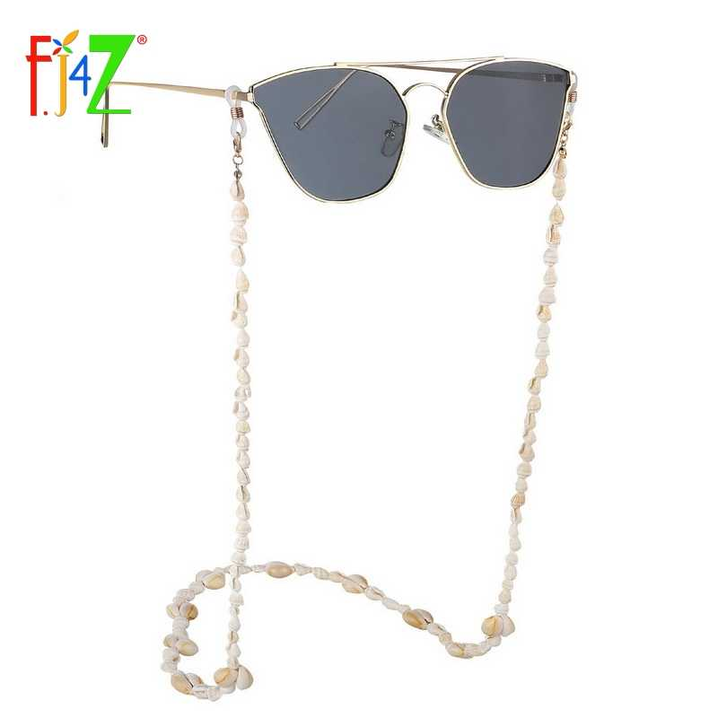 F.J4Z New Hot Seashell Glasses Chain Summer Sunglasses Lanyard Cowrie Eyewear Holder Sun Glasses Accessories
